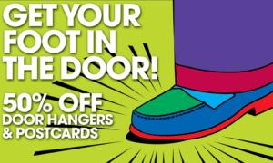 Low Priced Postcards and Door Hangers