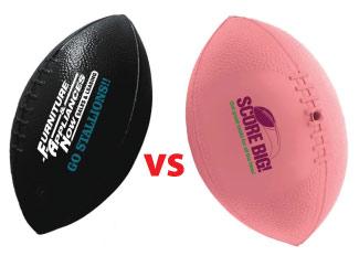 Plastic Mini Footballs vs. Vinyl Mini Footballs